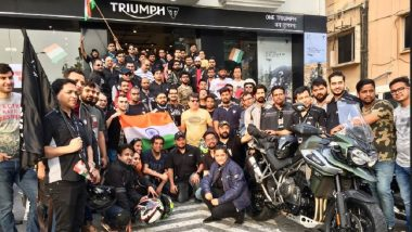 Triumph Motorcycles India Organised Special Freedom Ride for Supporting Girl Child Education